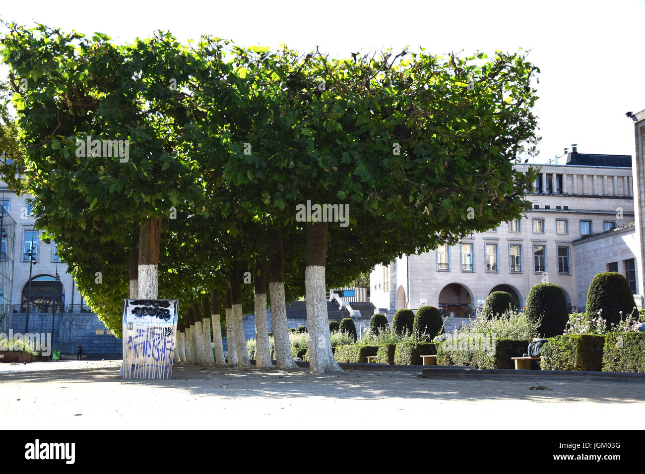 park at the coudenberg - Stock Image
