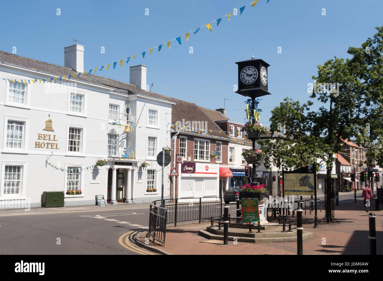 The Main Sreet in Driffield, East Yorkshire - Stock Image