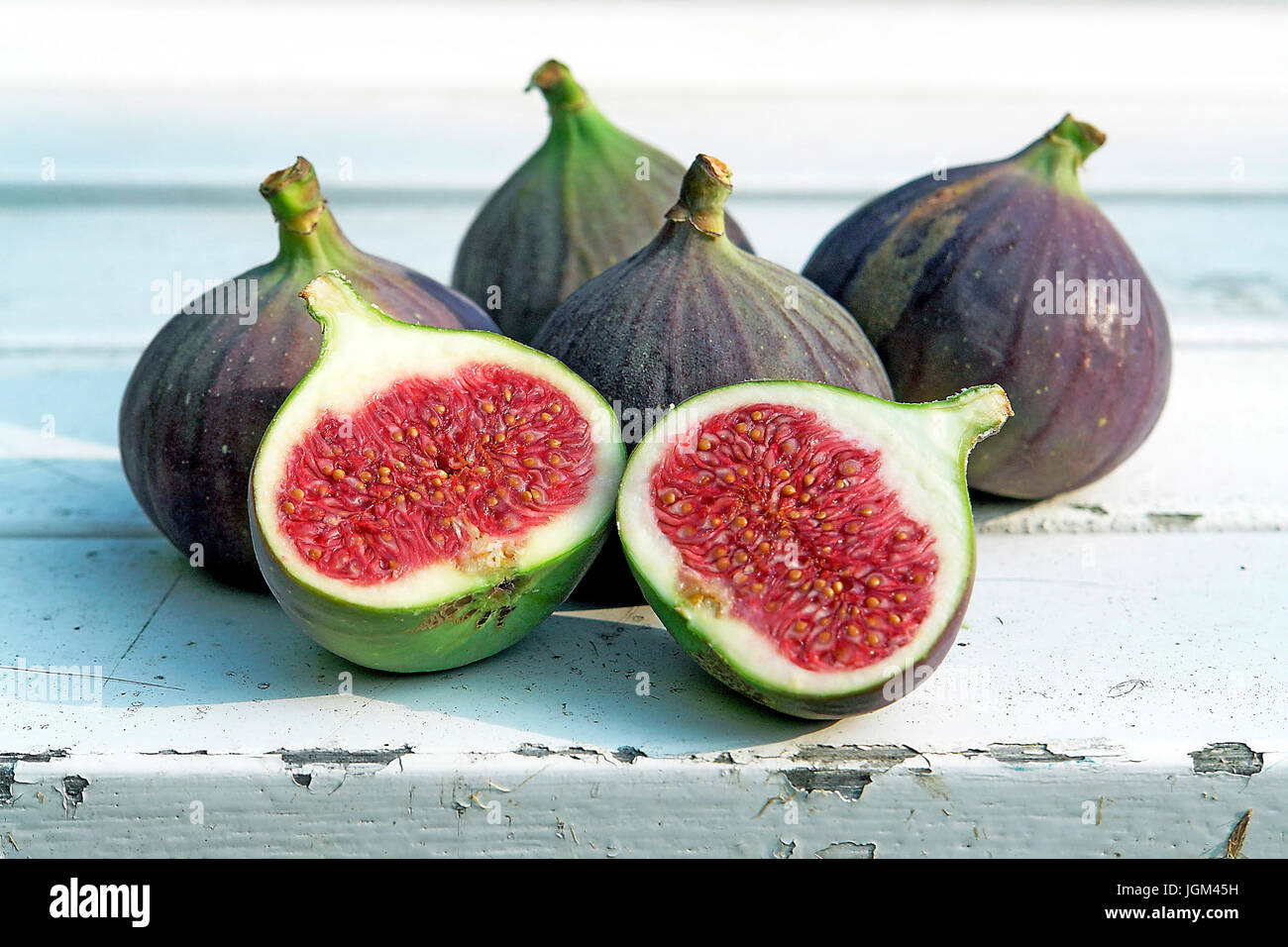 Fruit, fruit, fruits, fig, figs, Stilllife, object, objects, studio admission, horizontal format, Figs - Stilllife, - Stock Image