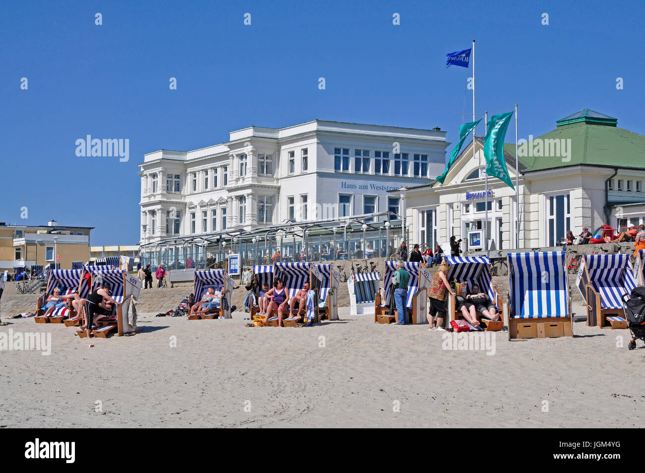 Europe, Germany, Lower Saxony, East Friesland, Friesland, scenery, blue sky, day, daylight, Outside, field recording, Stock Photo
