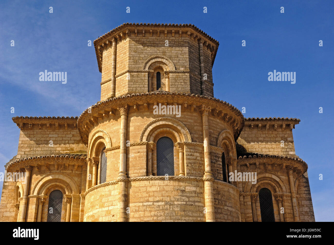apse of the church San Martin de Tours, Fromista, Palencia, Spain - Stock Image
