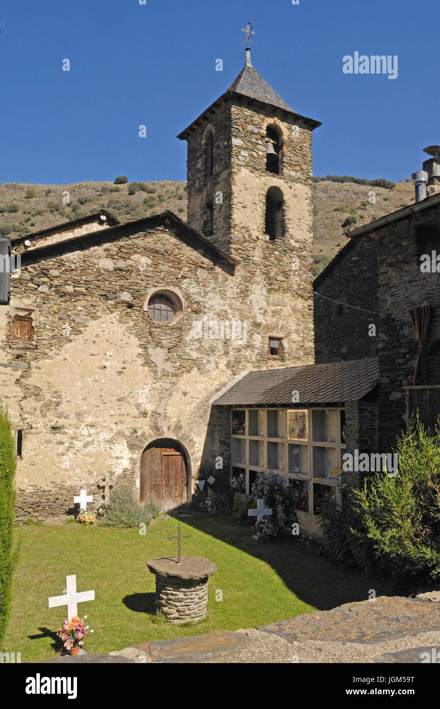 Sant Juli Church, Arros de Cardos, LLeida province, Catalonia , Spain Stock Photo