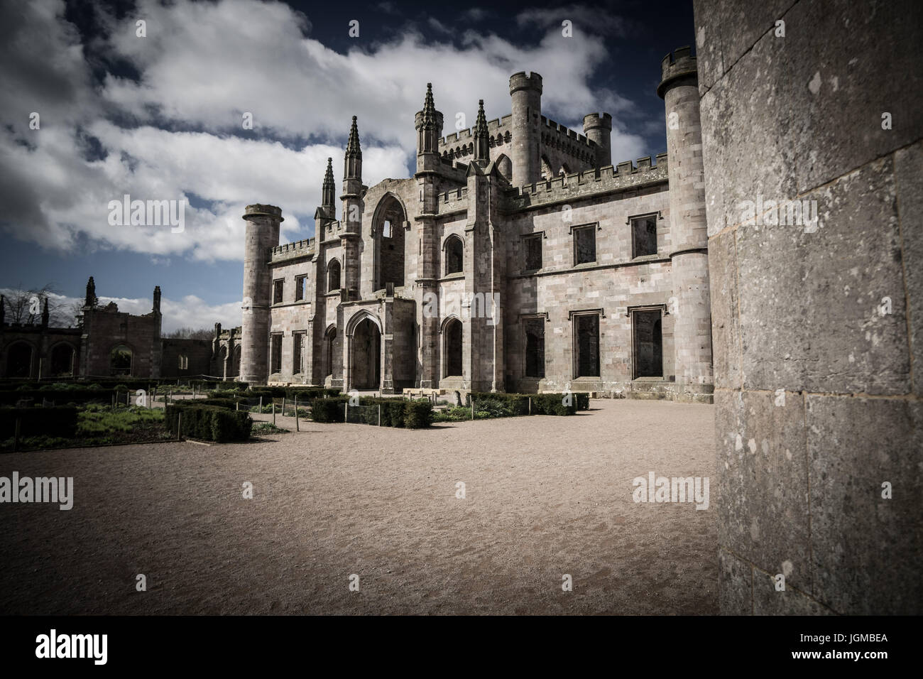 Lowther Castle in Cumbria - Stock Image