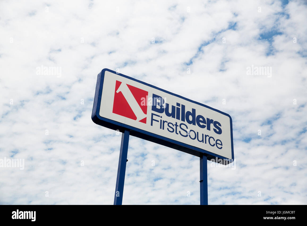 A logo sign outside of a facility occupied by Builders