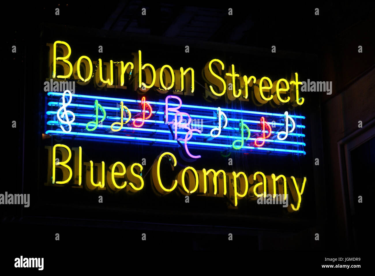New Orleans - Neon lights, New Orleans - Leuchtreklame - Stock Image