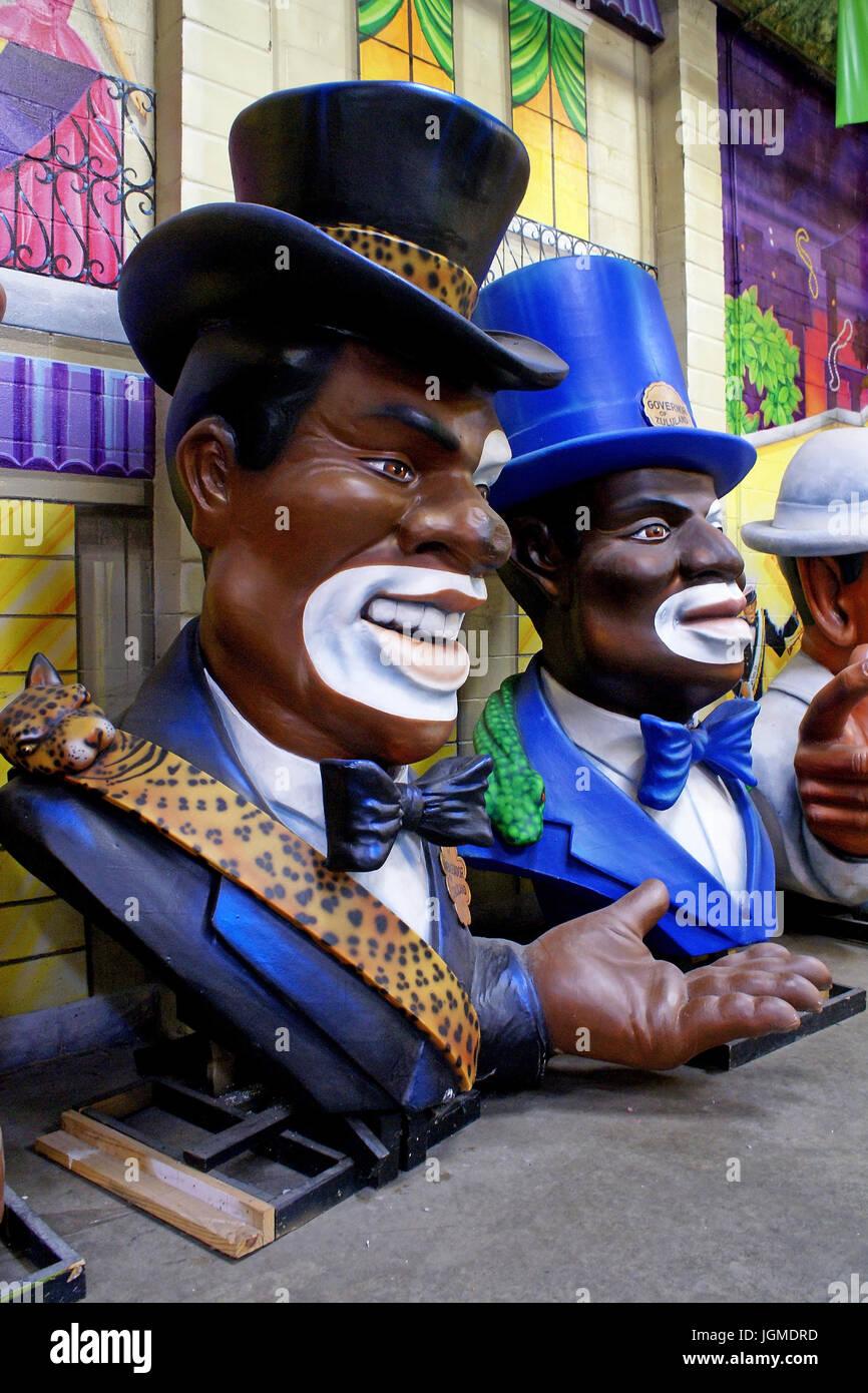 New Orleans - Three black men, New Orleans- Drei Schwarze Maenner - Stock Image
