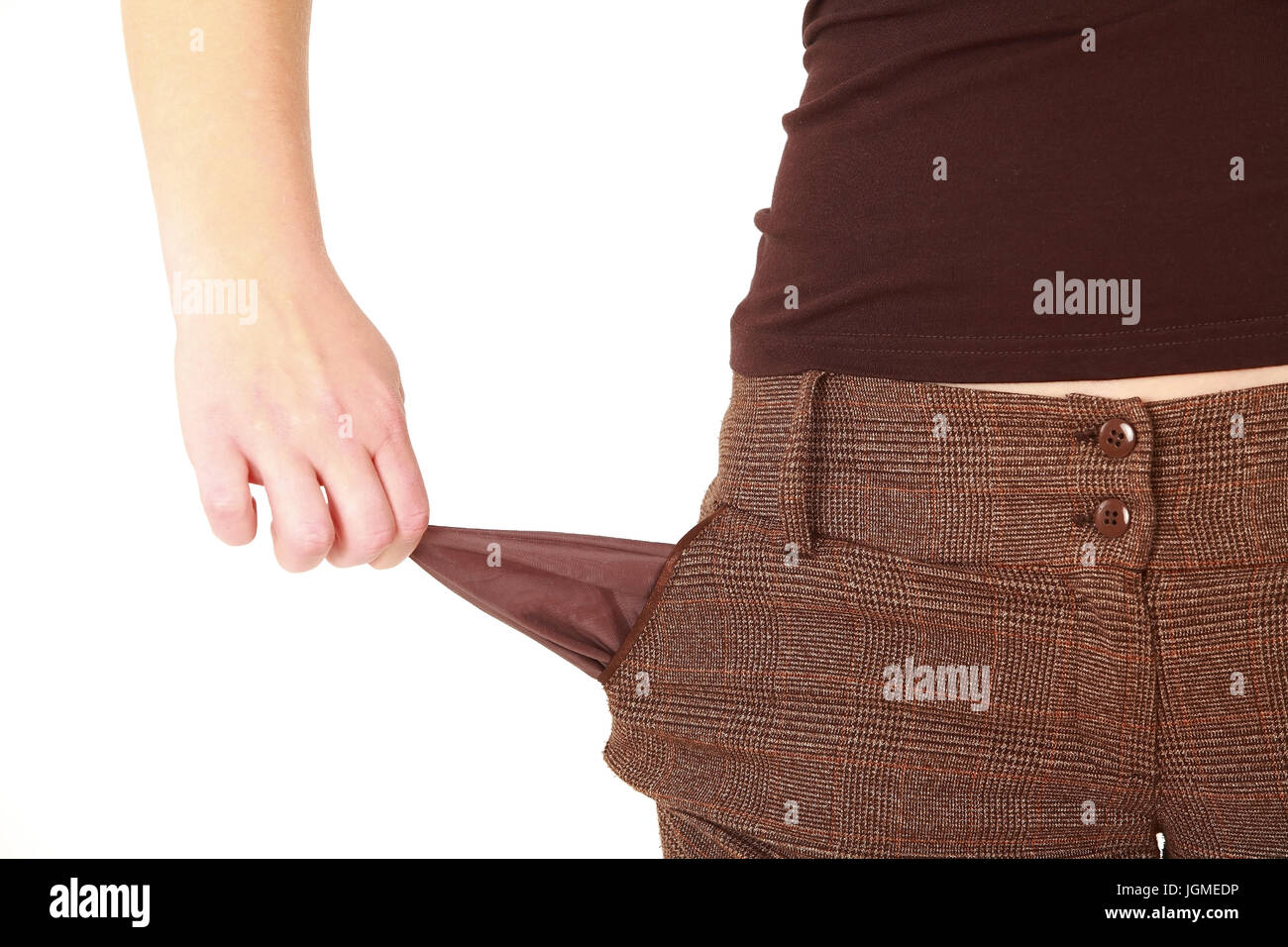 empty pockets, private insolvency - empty pockets, leere Taschen, Privatinsolvenz - empty pockets - Stock Image