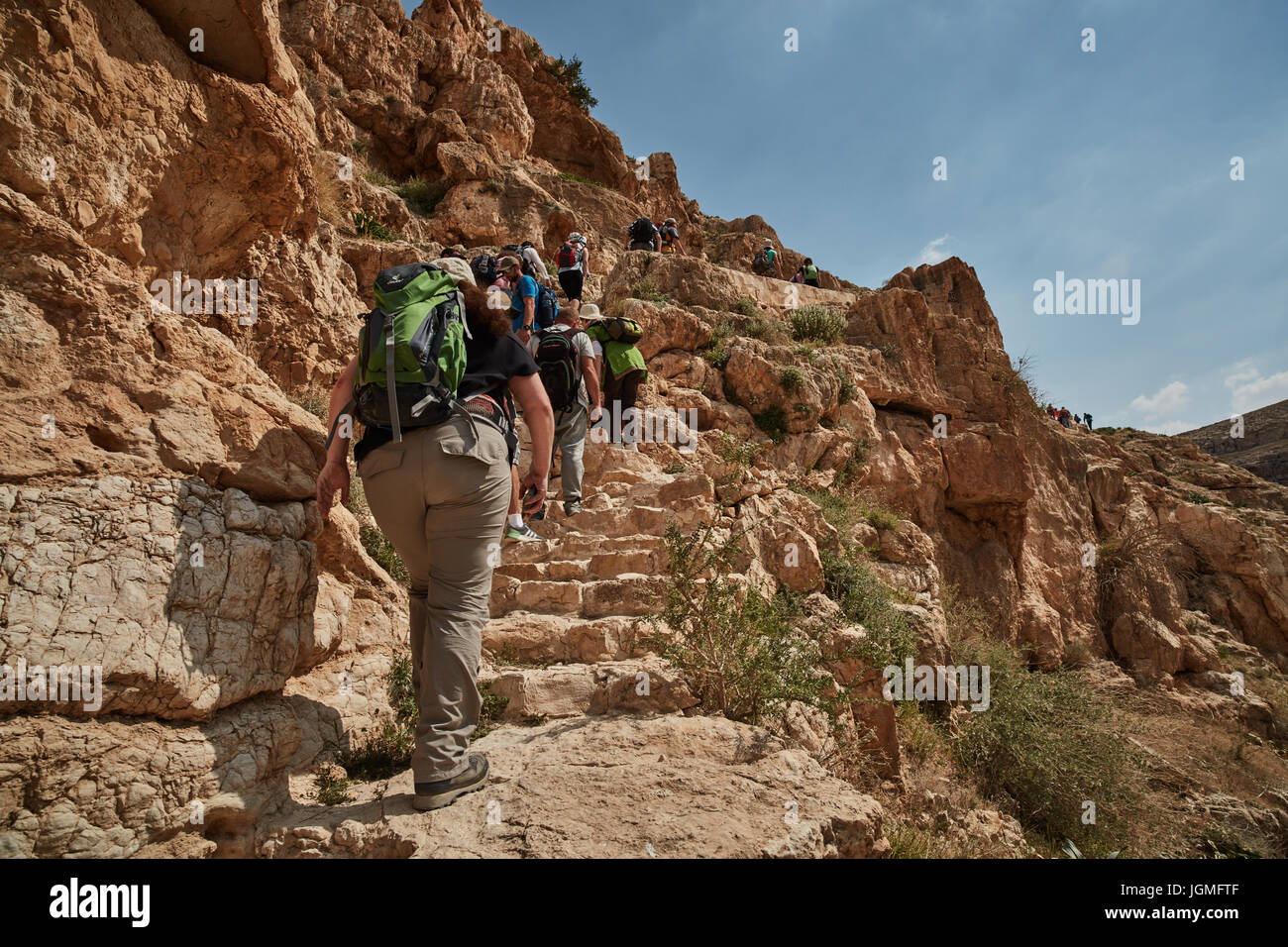Mar Saba monastery at the desert (Israel) - Stock Image