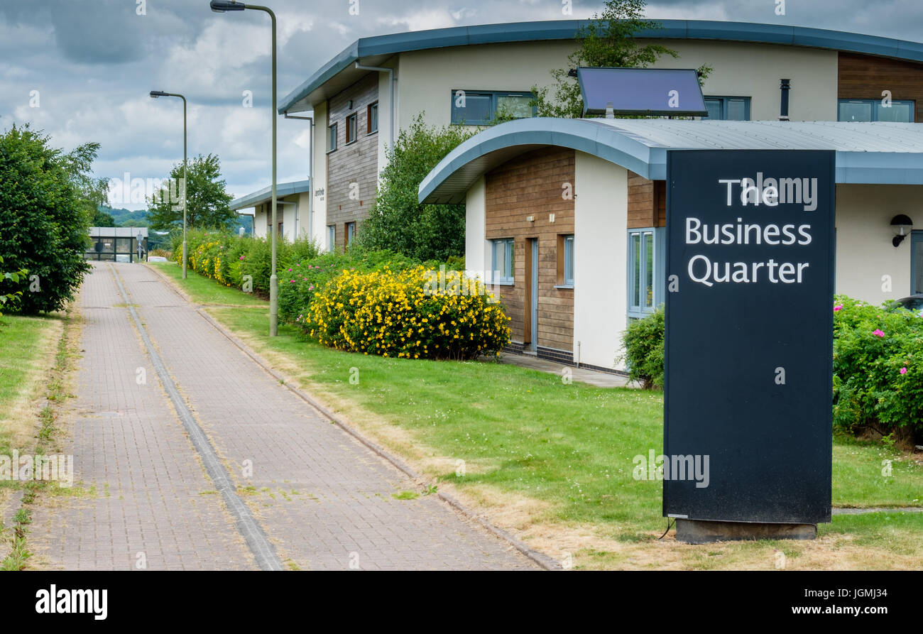 The Business Quarter at the Ludlow Eco Park, Sheet Road, Ludlow, Shropshire, England, UK - Stock Image