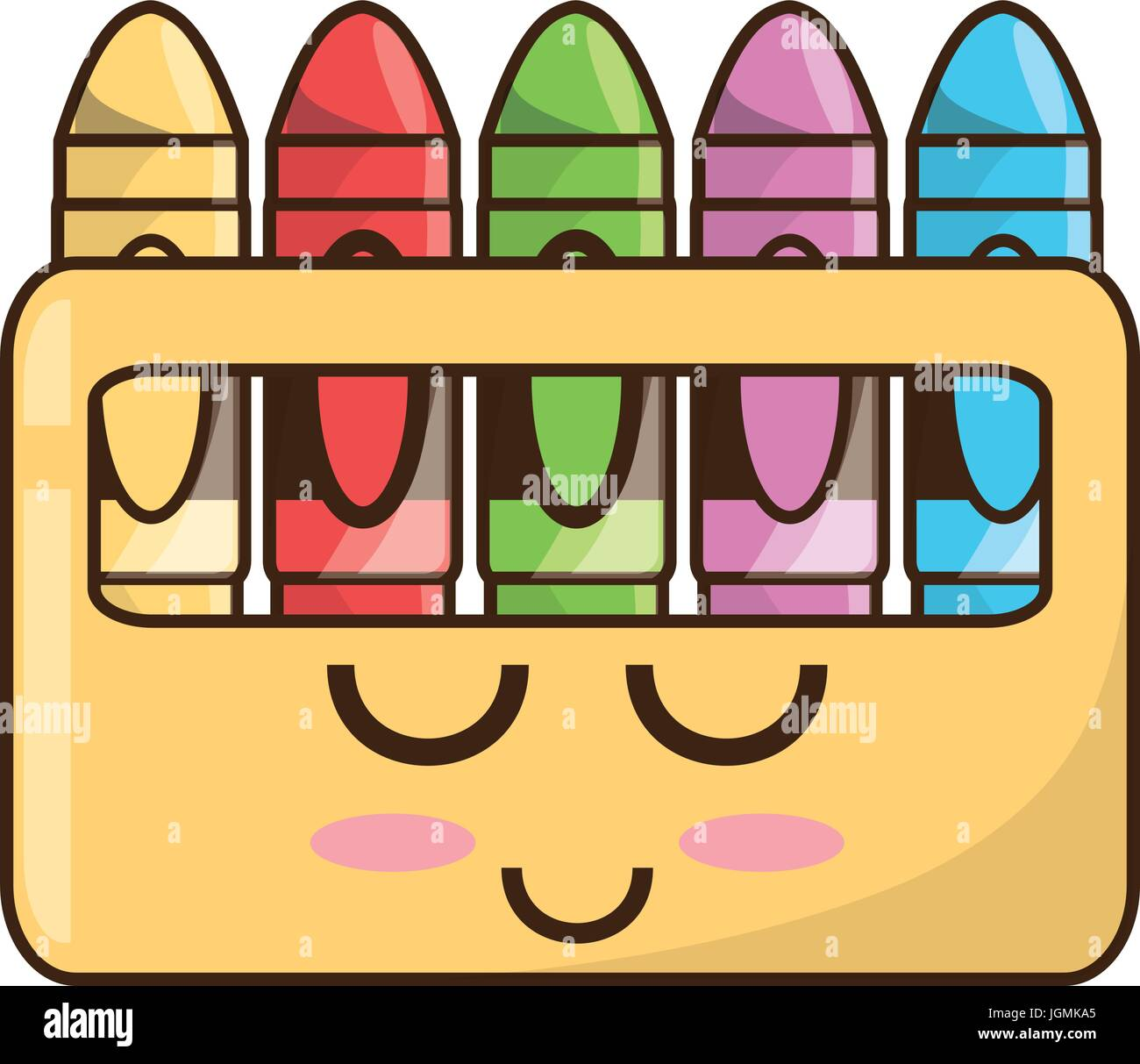 Cute Crayons Cartoon Stock Vector Art Illustration Vector Image - Cartoon-pictures-of-crayons