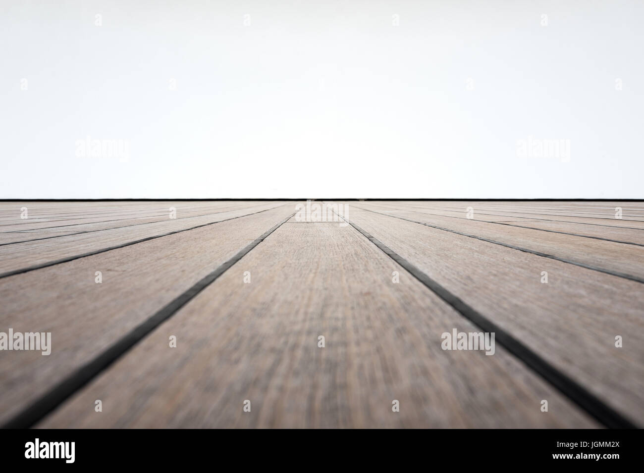 wooden parquet floor of a stage - Stock Image