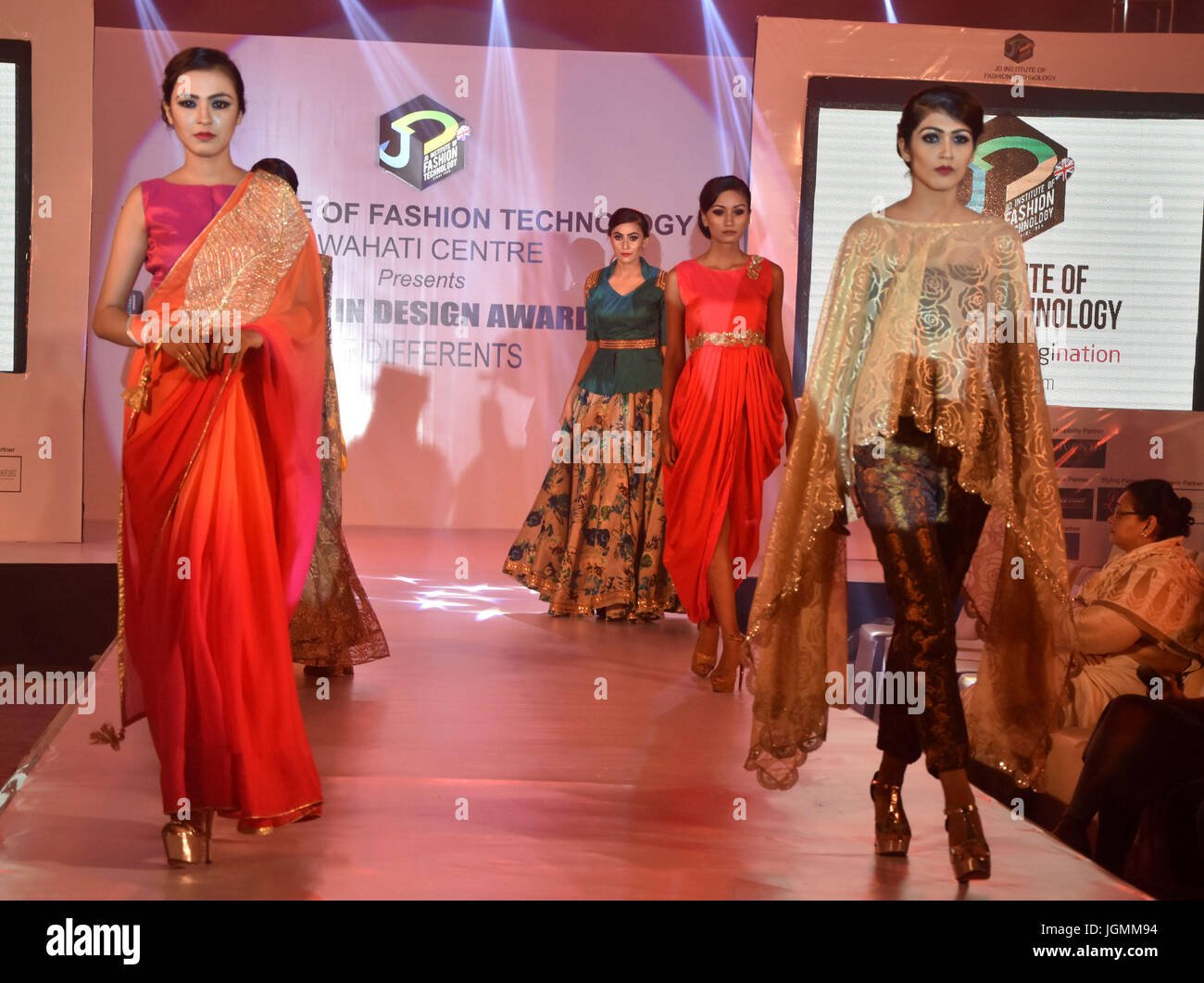 Guwahati India 08th July 2017 Models Walk On A Ramp During A Stock Photo Alamy