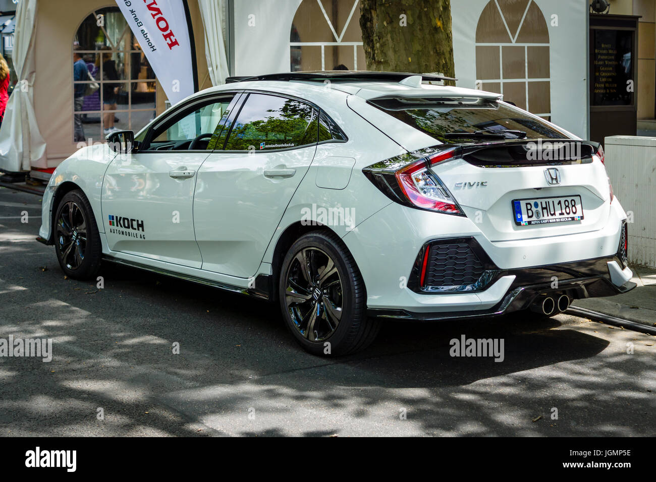 berlin june 17 2017 compact car honda civic 1 5 sport plus 2017 stock photo 147973882 alamy. Black Bedroom Furniture Sets. Home Design Ideas