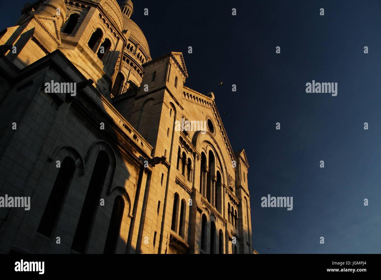 Basilica Sacred Heart of Paris. - Stock Image