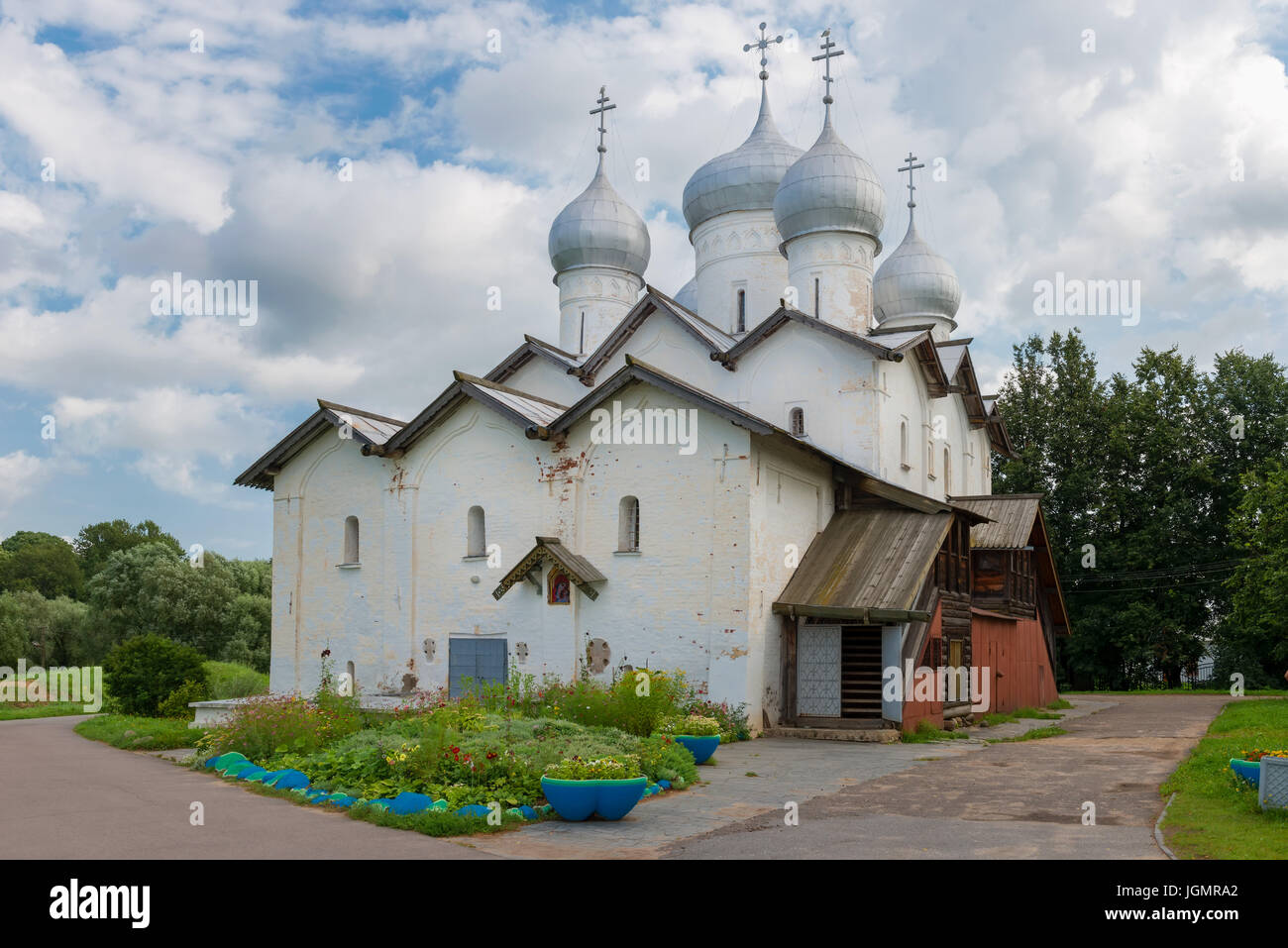 The Church of Boris and Gleb in Carpenters. Veliky Novgorod. Russia. - Stock Image