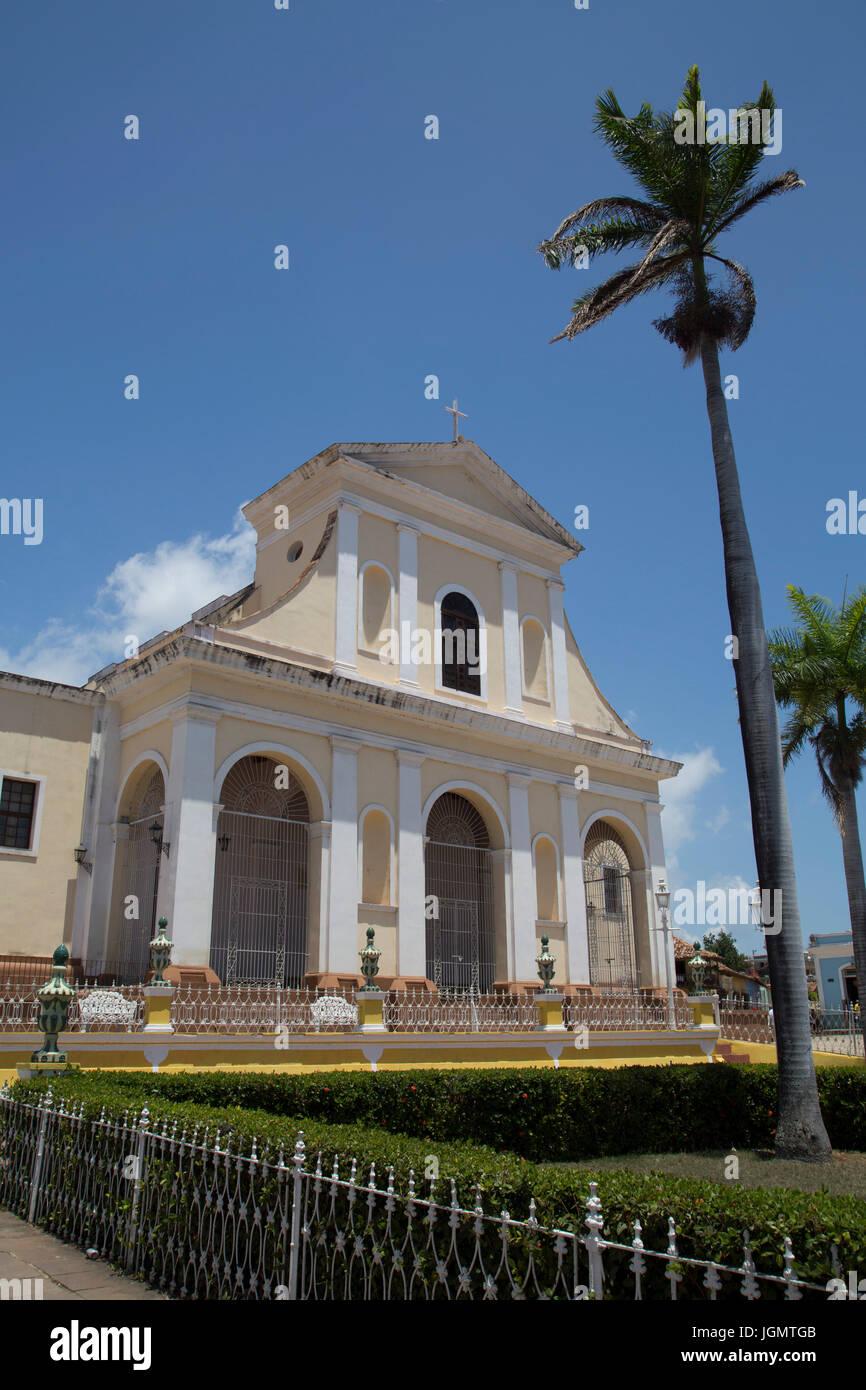 Iglesia Parroquial de la Santisima Trinidad, Plaza Mayor, Trinidad, UNESCO World Heritage Site, Sancti Spiritus, - Stock Image