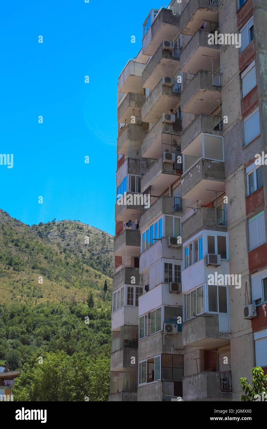 War affected buildings in Bosnia Herzegovina - Stock Image