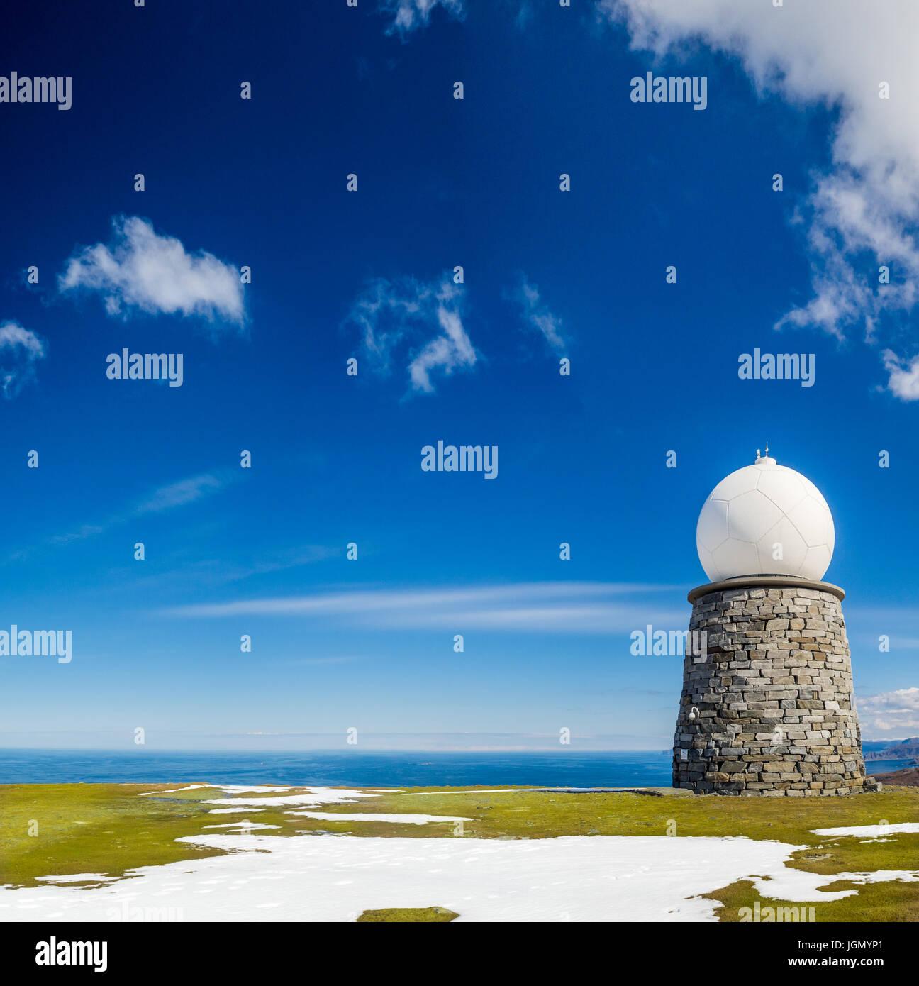 Vestkapp, west cape, Norway, meteorological station - Stock Image