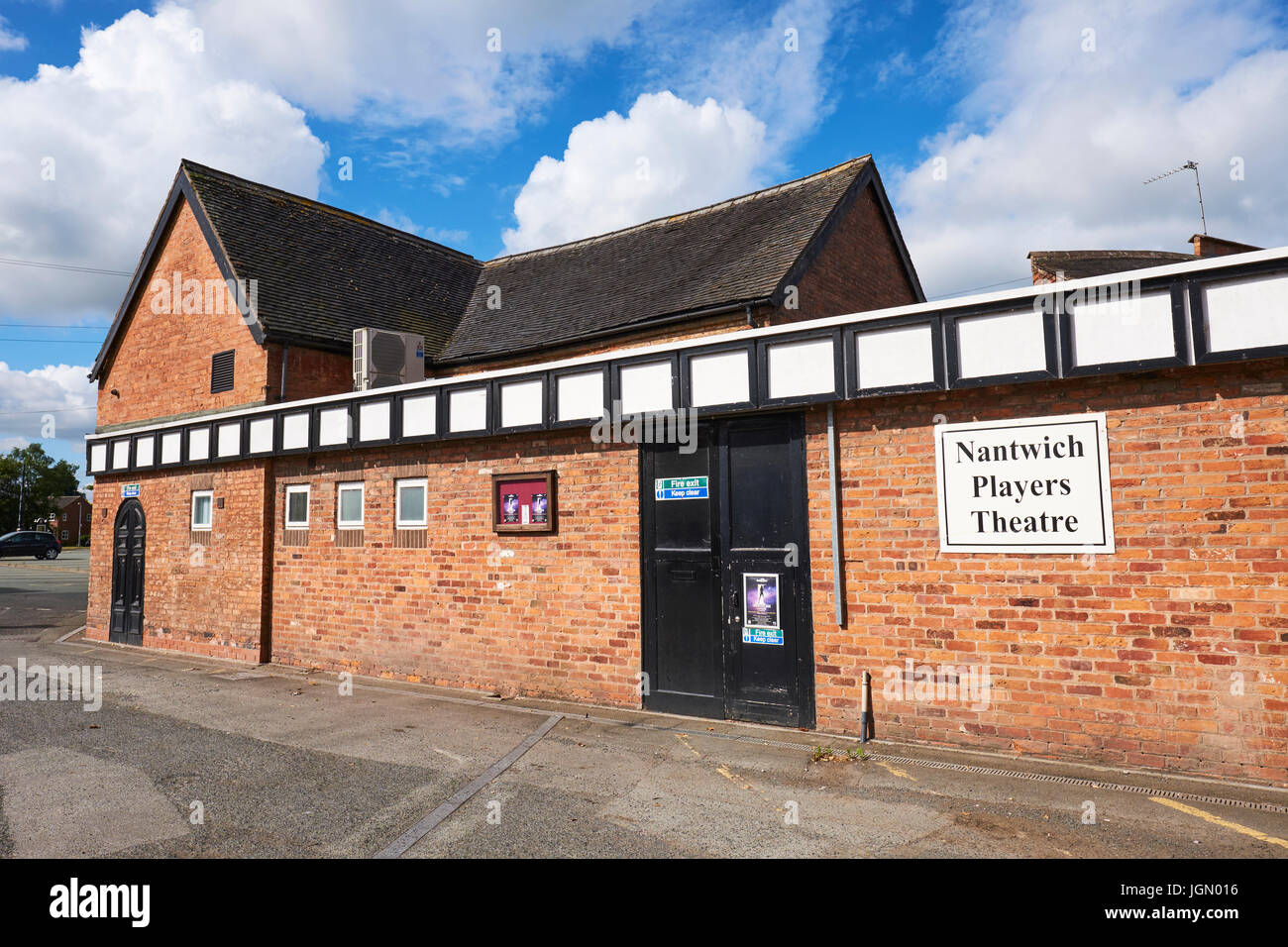 Players Theatre, Love Lane, Nantwich, Cheshire, UK - Stock Image