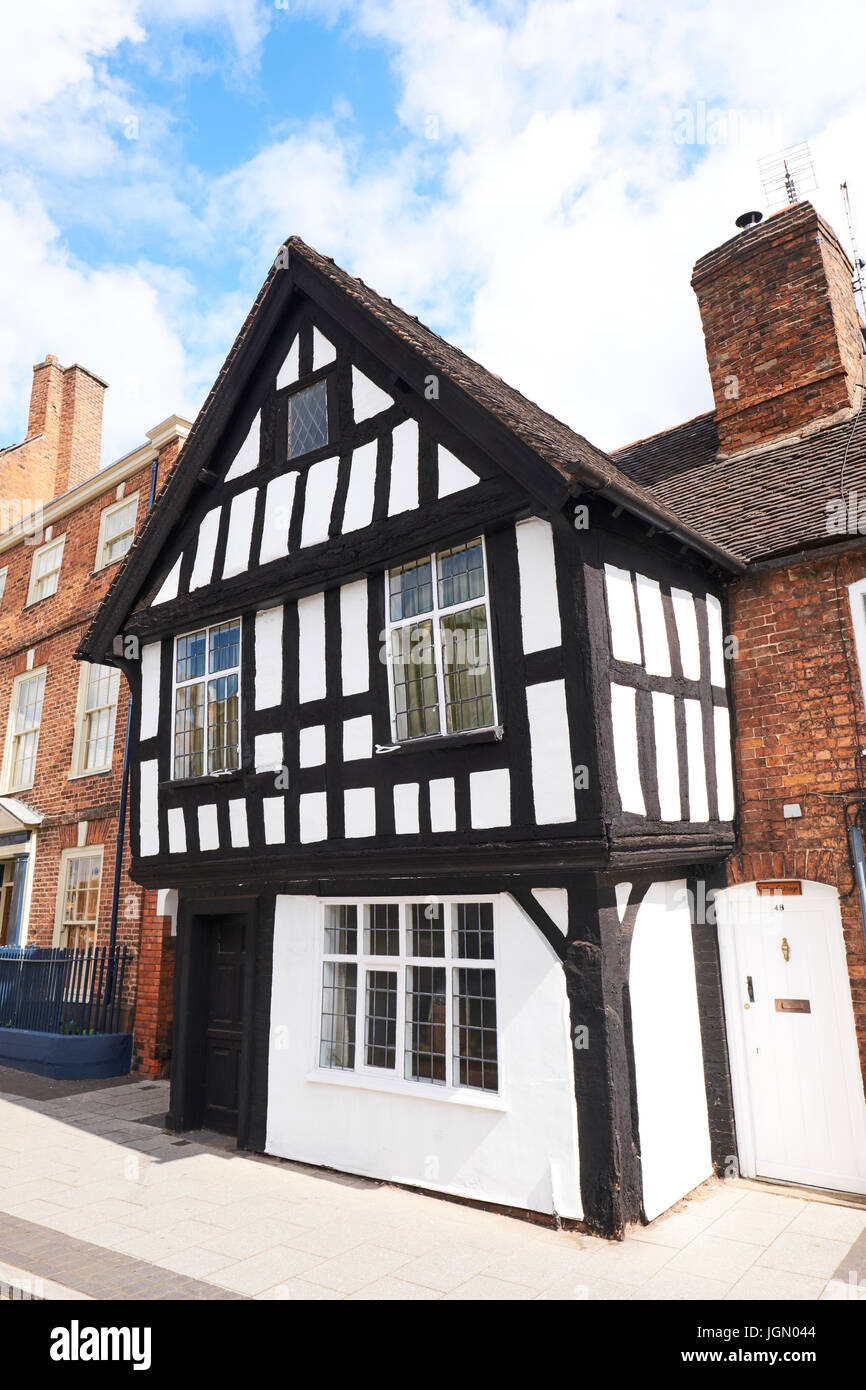 Tudor Cottage, Welsh Row, Nantwich, Cheshire, UK - Stock Image