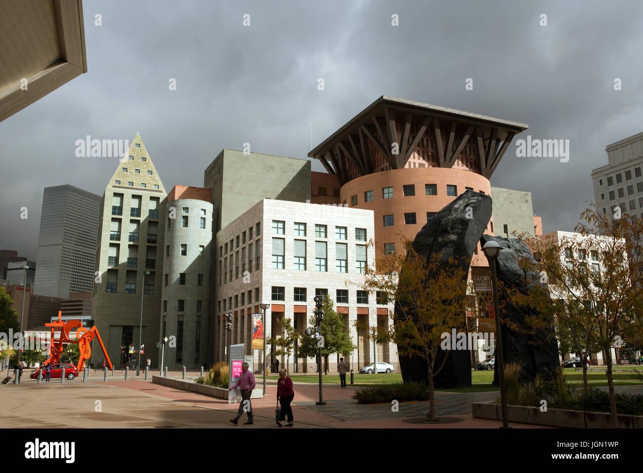 Denver Art museum, Denver, Colorado - Stock Image