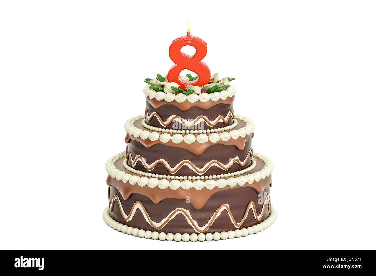 Miraculous Chocolate Cake 8Th Birthday Stock Photos Chocolate Cake 8Th Funny Birthday Cards Online Inifodamsfinfo