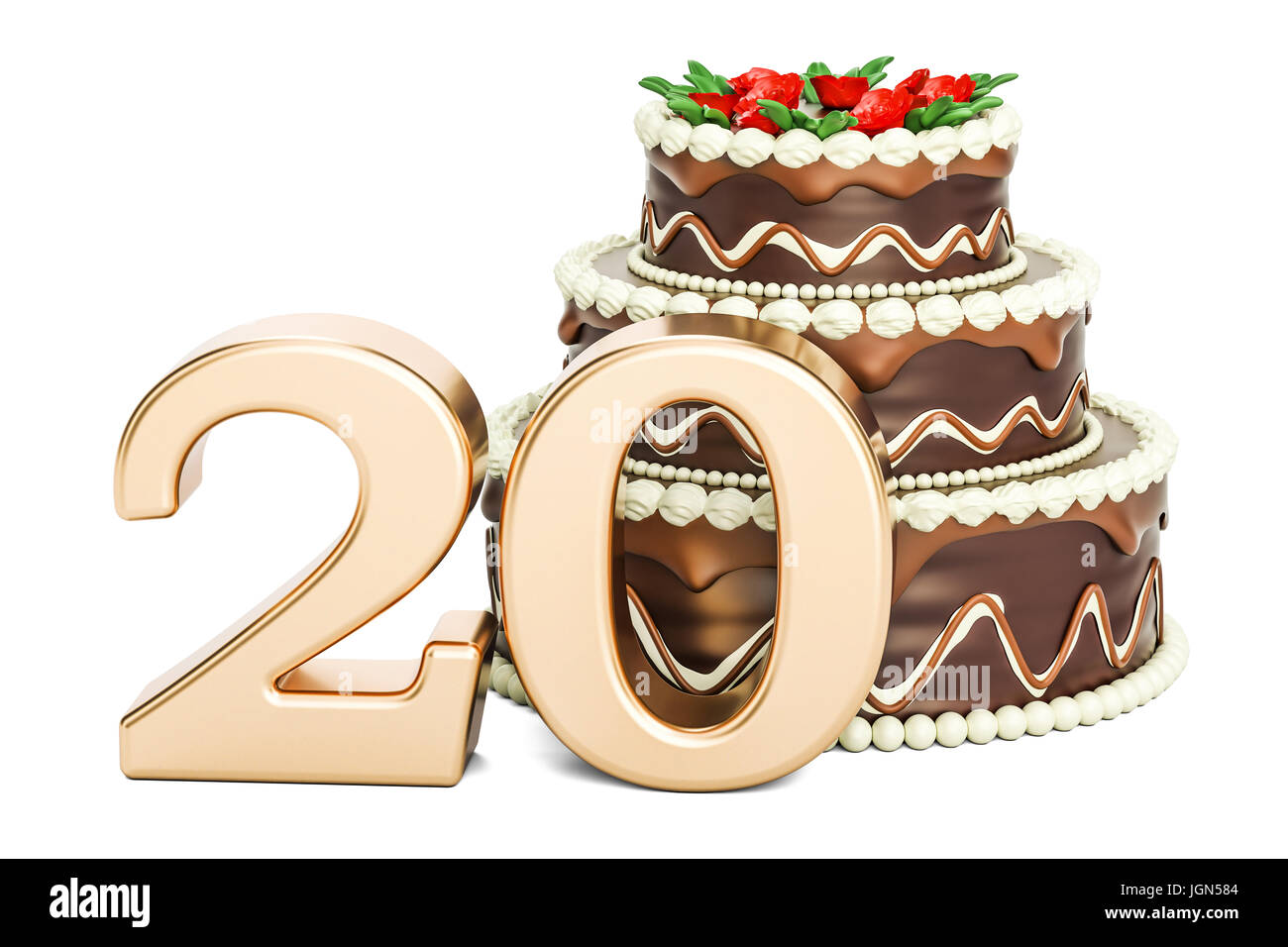 20th Birthday Cake Cut Out Stock Images Pictures Alamy