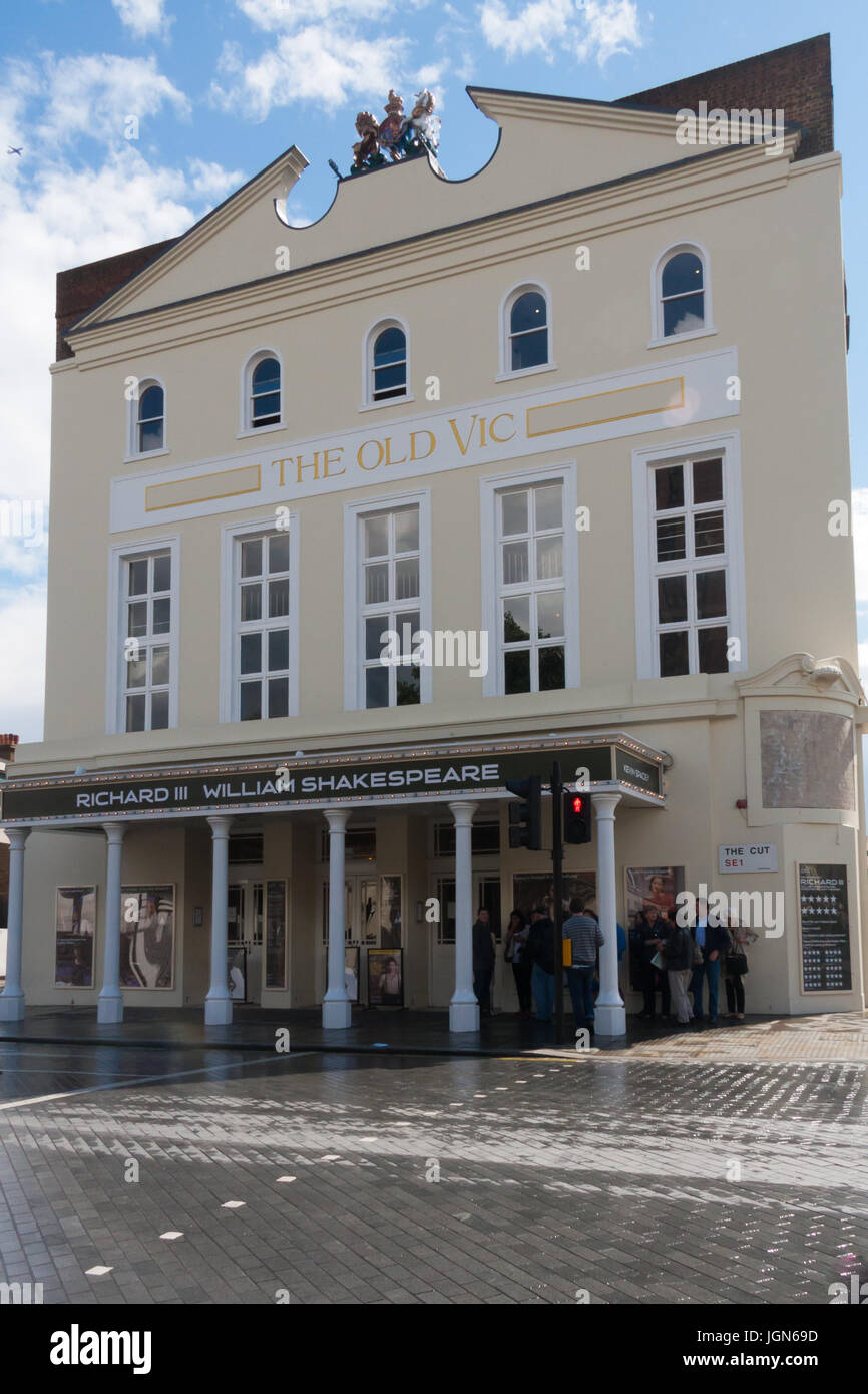 The Old Vic Theatre, The Cut, Waterloo, London, England, United Kingdom - Stock Image