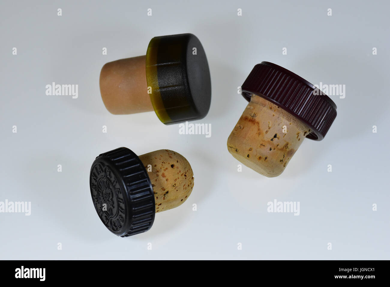 Bottle top corks - Stock Image