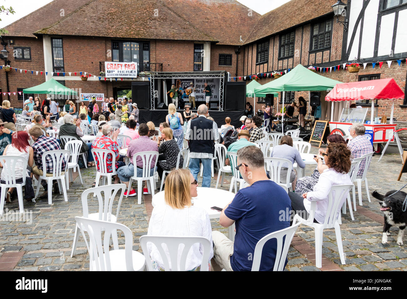 Folk and Ale Festival event at Sandwich in Kent  People
