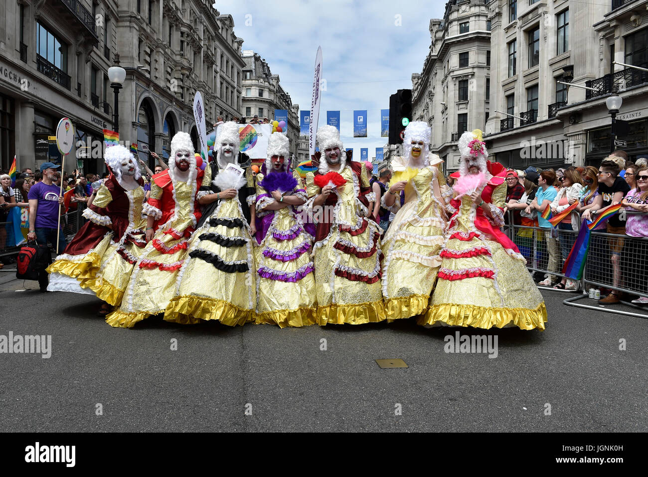 London, UK. 08th July, 2017. The drag queers during Pride In London on Saturday. Photo : Taka G Wu Credit: Taka - Stock Image