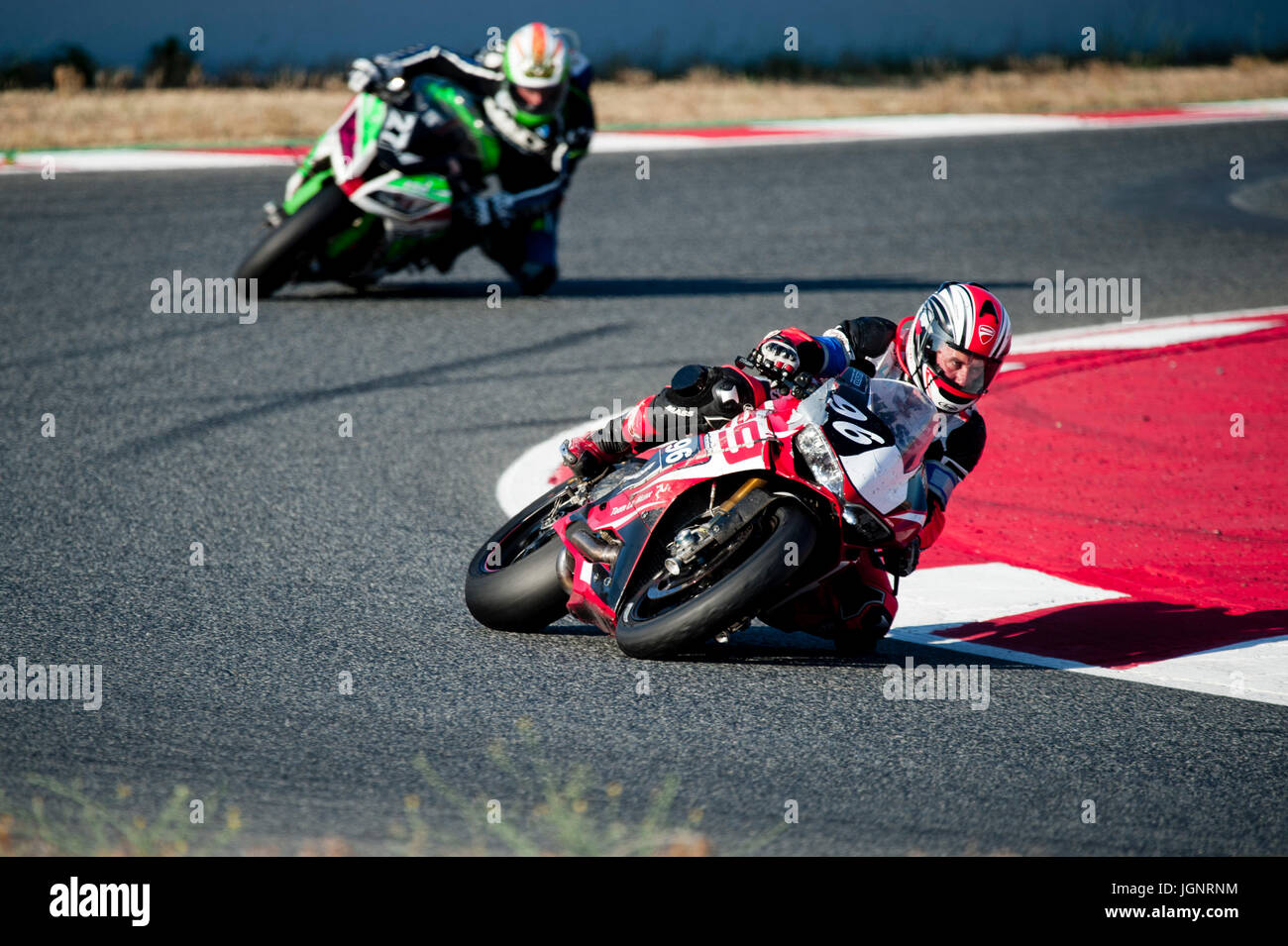 Barcelona, Spain. 9th July, 2017. Sebastien Cherillot of the Team Le Manx in action during the 24 Horas de Catalunya Stock Photo