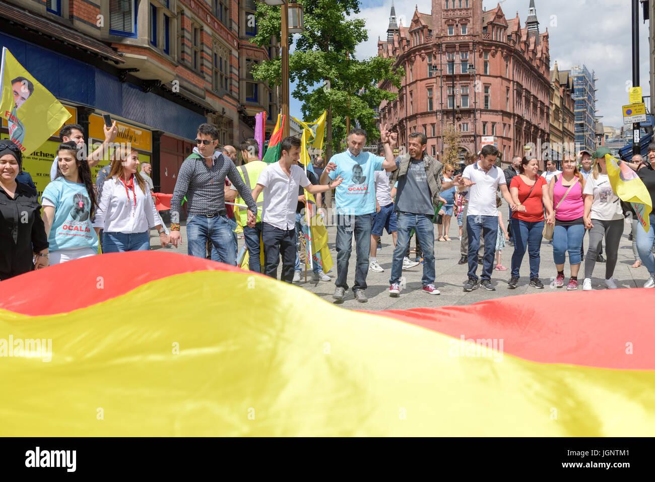 Nottingham, UK  09th July 2017  Nottingham Kurdish community
