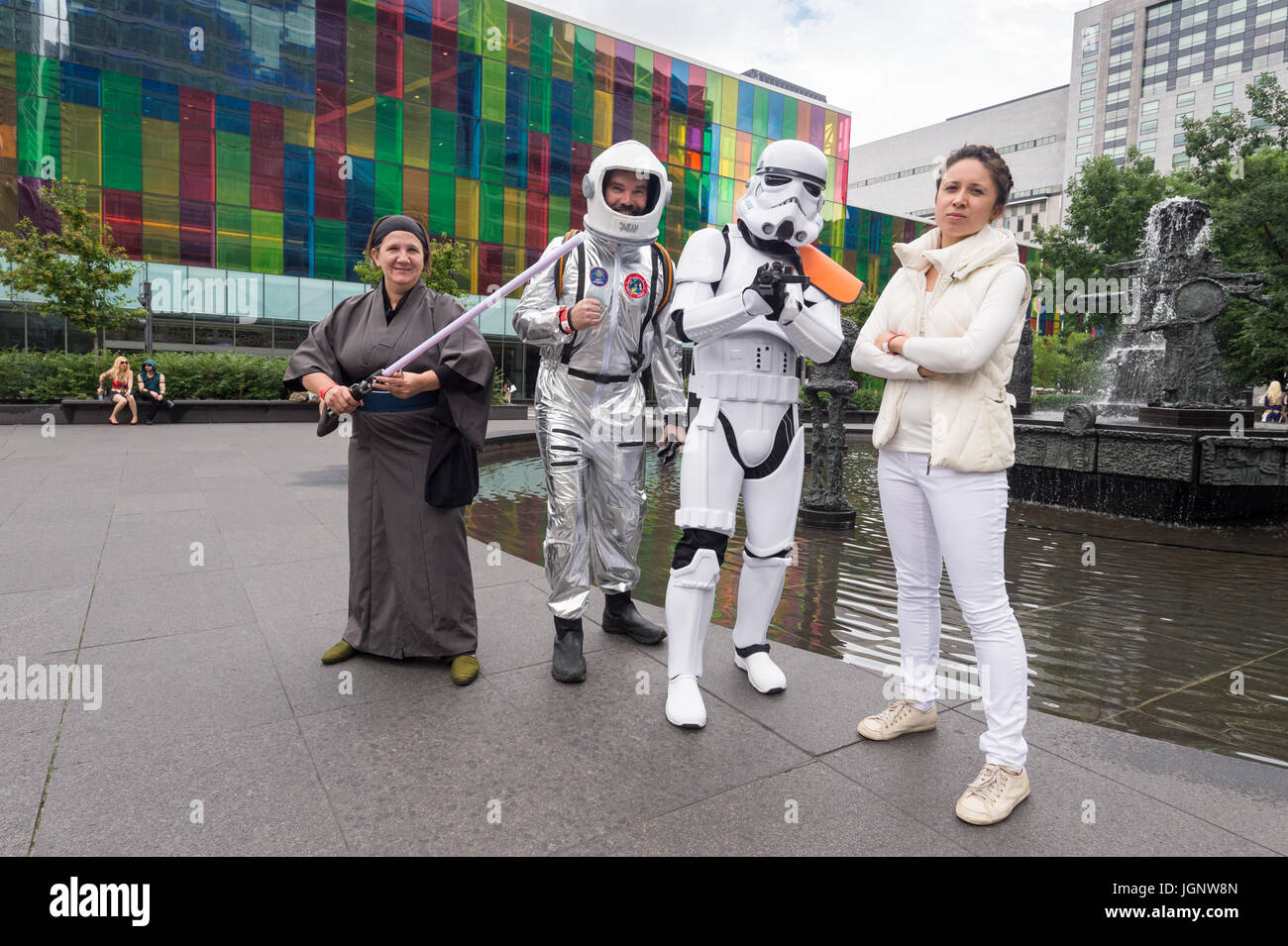 Montreal, Canada. 8th July, 2017. Pop-culture fan convention Comic Con Credit: Marc Bruxelle/Alamy Live News - Stock Image