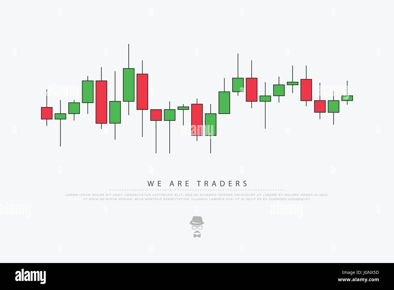abstract background with japanese candles pattern. vector currencies trading diagram. exchange market graph. forex - Stock Vector
