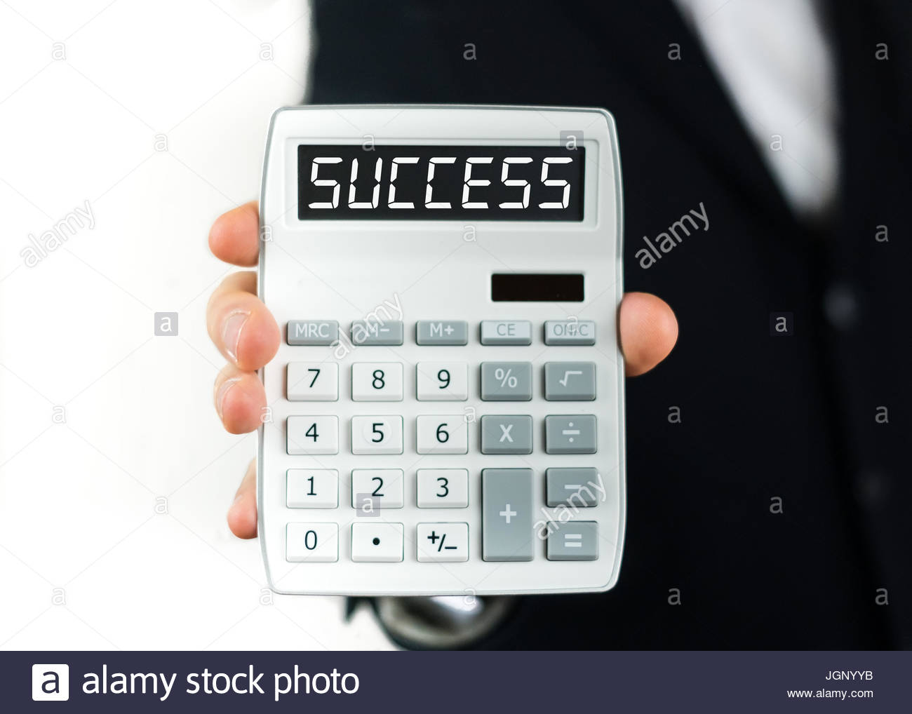 Success calculation - Stock Image