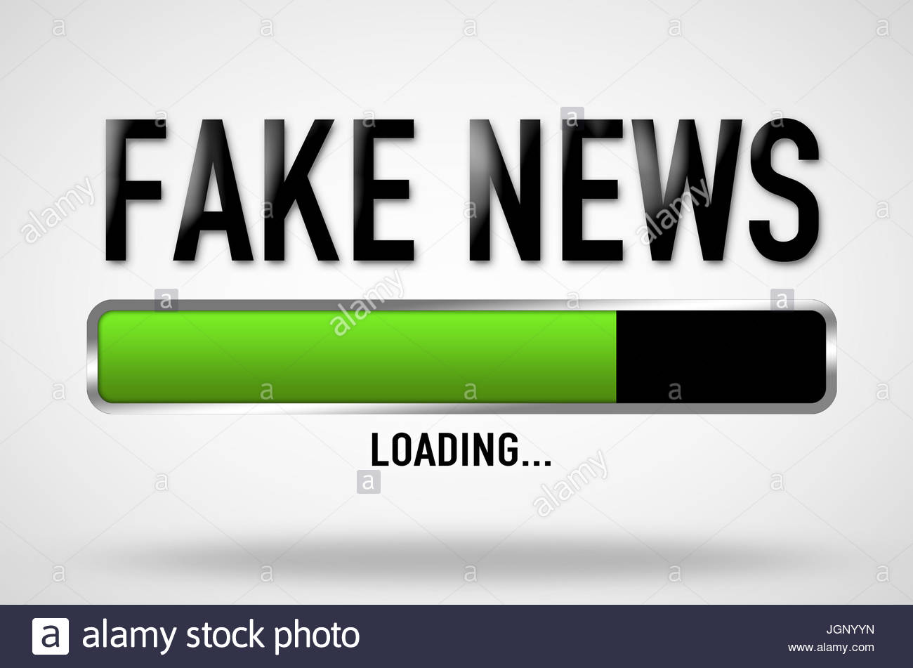 Fake News - loading bar - Stock Image