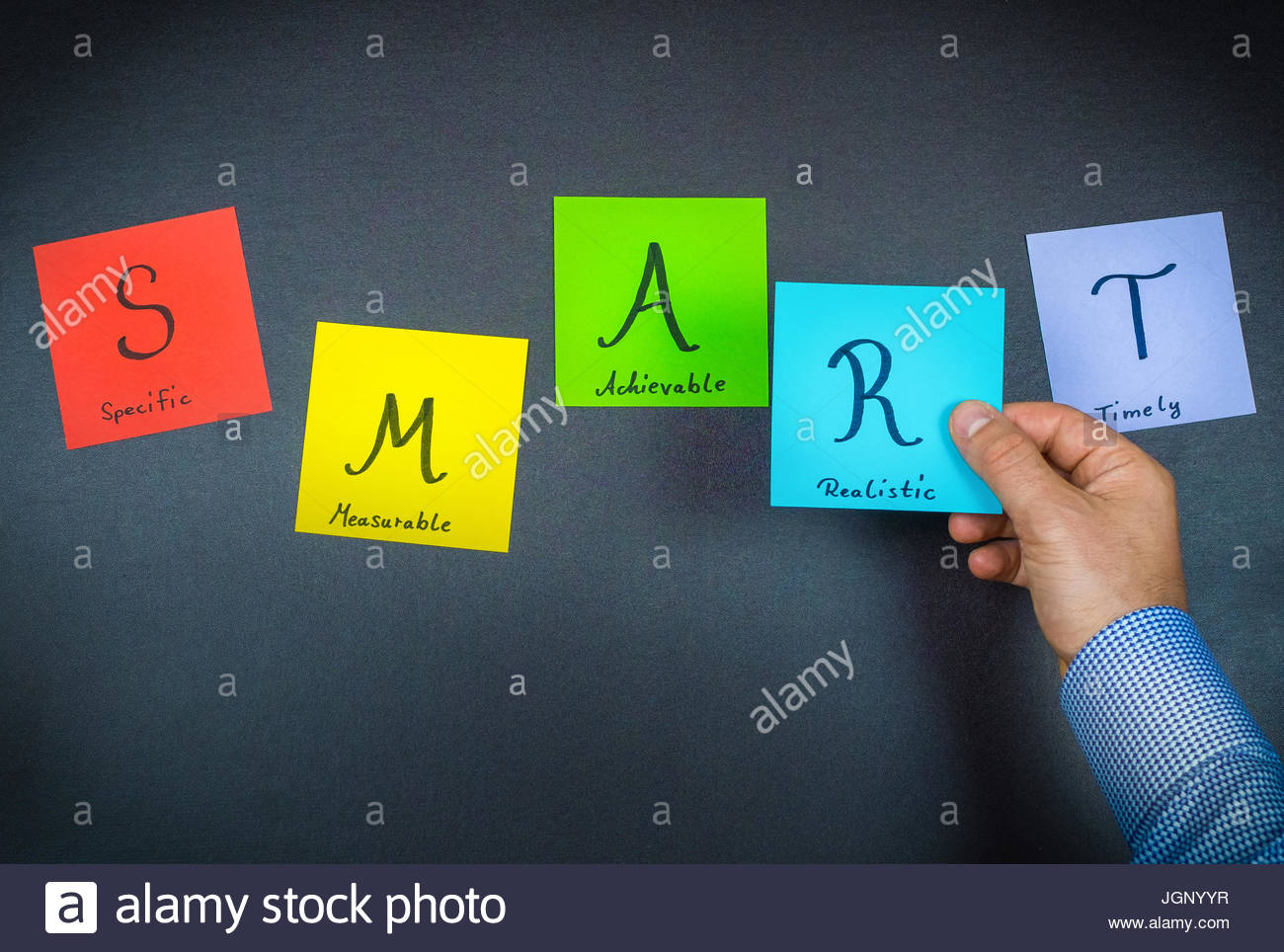 SMART - colorful notes - Stock Image