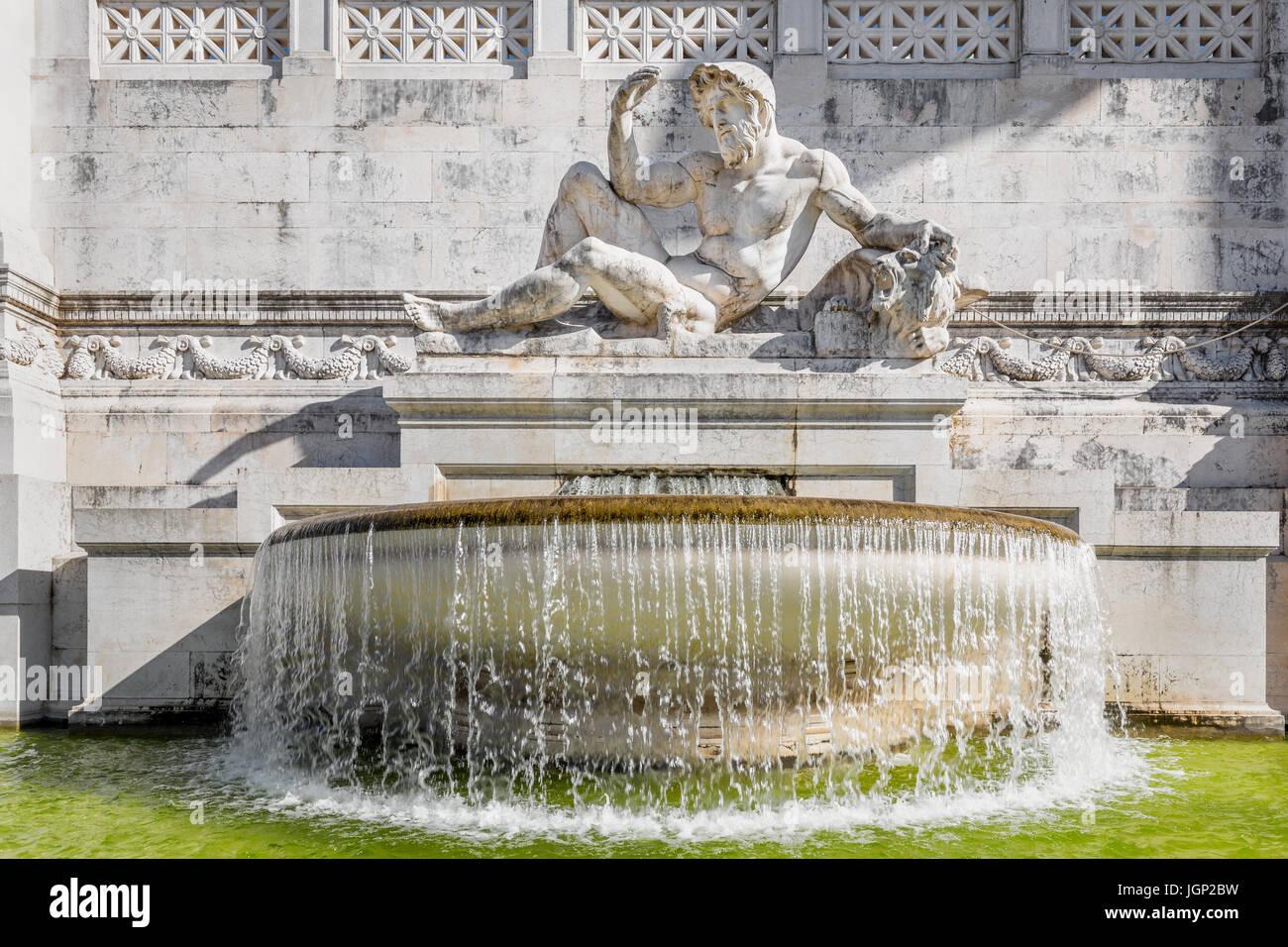 Fountain of the Adriatic Sea (Fontana dell'Adriatico), Piazza Venezia, Rome, Italy - Stock Image