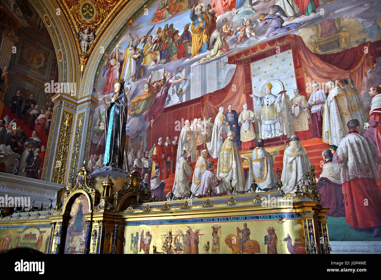 In the 'Sala dell'Immacolata' ('Room of the Immaculate Conception'), Vatican Museums, Vatican - Stock Image
