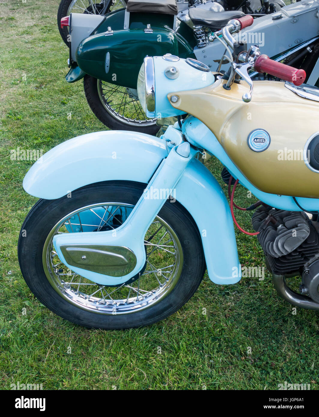Ariel Arrow motorcycle at rally in UK - Stock Image