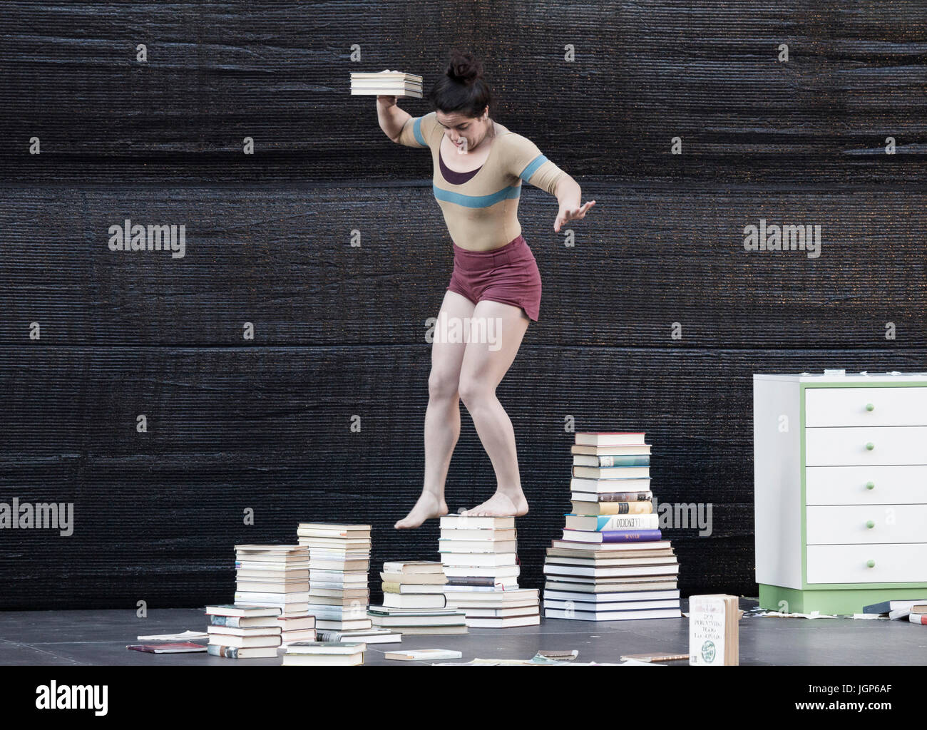 Performer at street art festival. - Stock Image