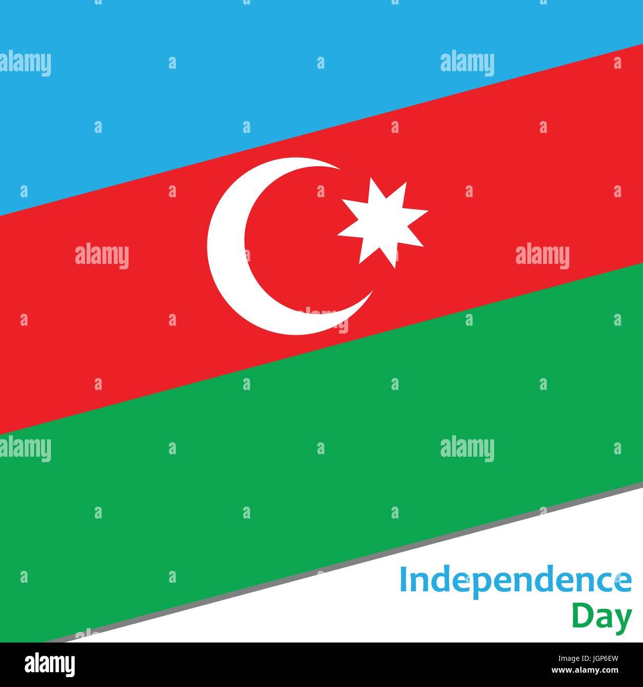 Azerbaijan independence day - Stock Vector