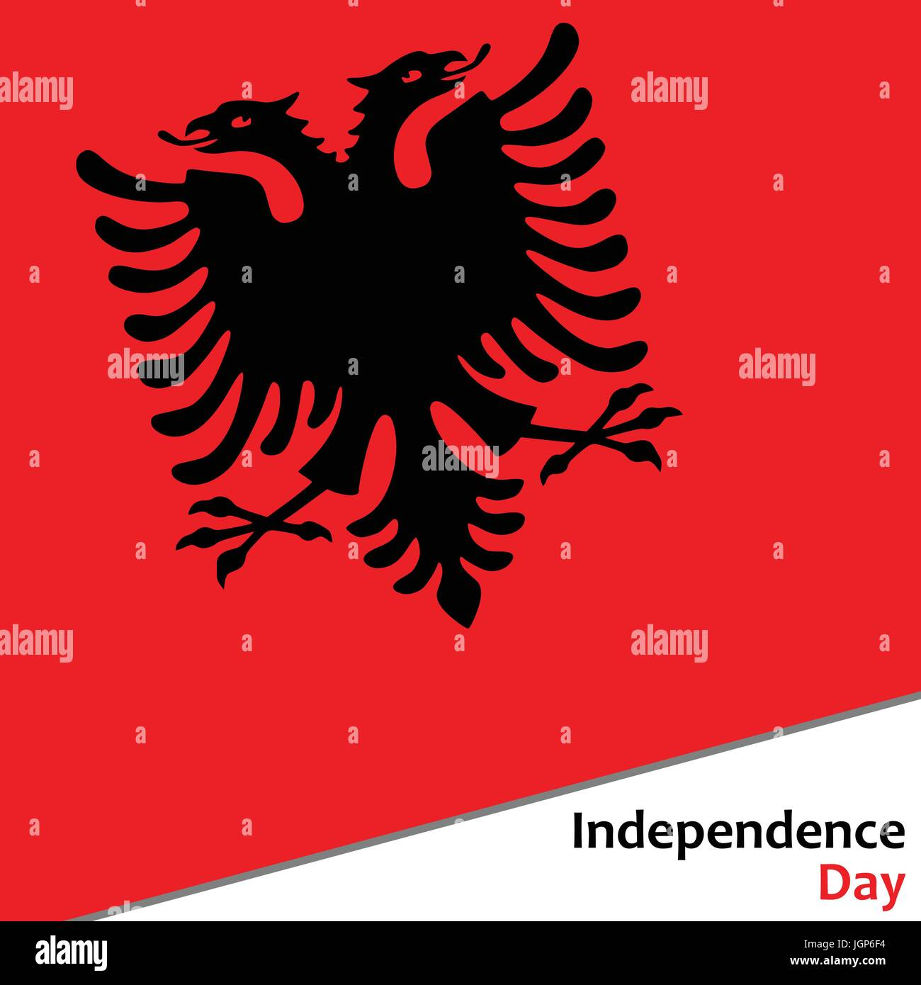 Albania independence day - Stock Vector