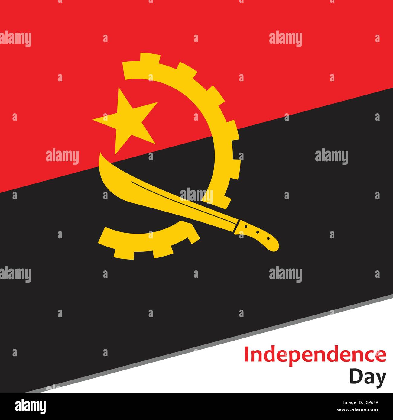 Angola independence day - Stock Vector