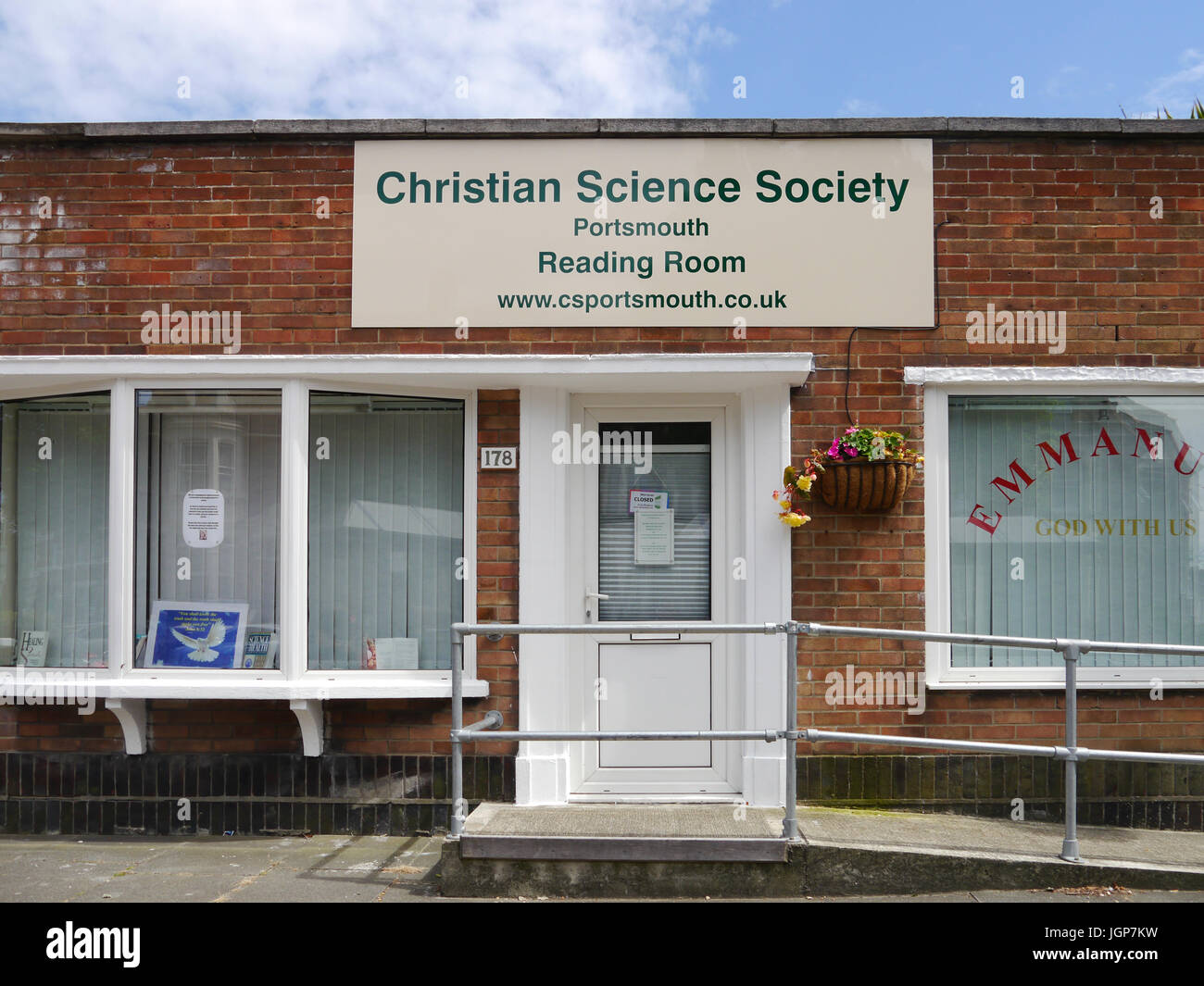 The Christian Science Society reading rooms in North End Portsmouth - Stock Image