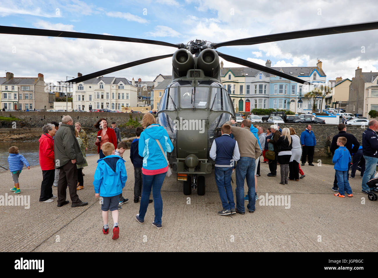 Royal Air Force XW209 westland puma helicopter on display to the public armed forces day bangor northern ireland - Stock Image