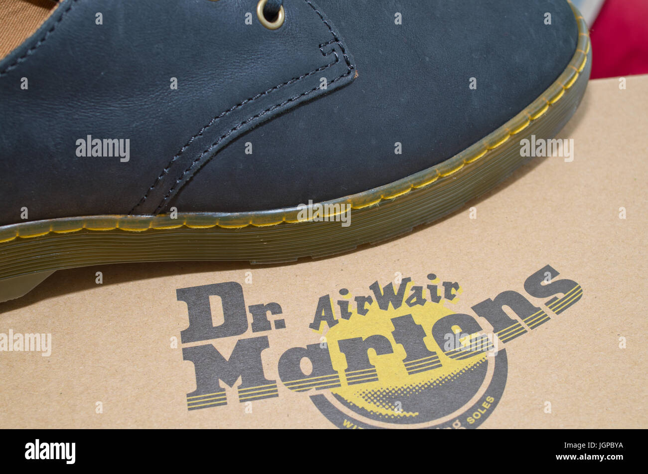 New Dr Martins Martin Shoe Shoes UK - Stock Image