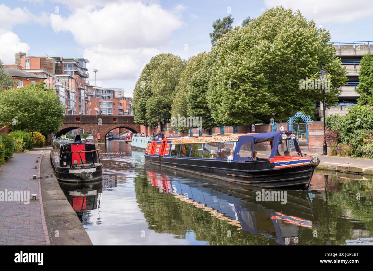 Birmingham canal navergations, Birmingham, England, UK - Stock Image
