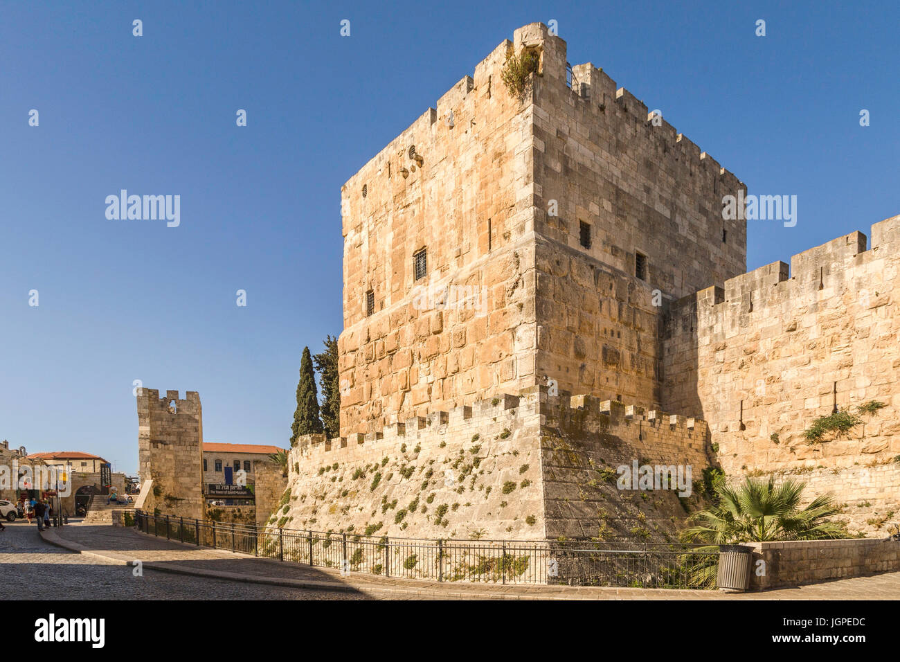 The Citadel ( Tower of David ) near Jaffa Gate, in the Old City of Jerusalem, Israel. - Stock Image